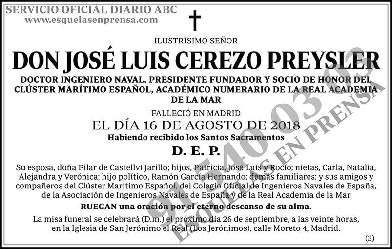 José Luis Cerezo Preysler